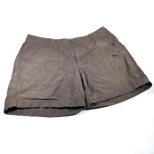 COLUMBIA BROWN SHORTS WOMENS SIZE 12W 6L
